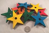 "Canadian Pine Stars - 3"" x 3"" - Large - Coloured - 6pc"